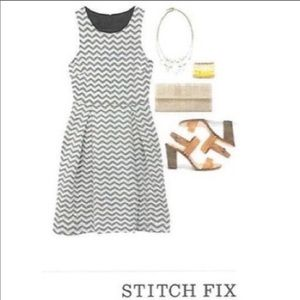 Stitch fix 41 Hawthorn jace chevron dress size s